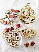 Assorted classic Christmas biscuits