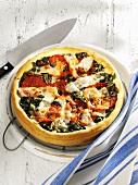 Chard, tomato and Provolone tart