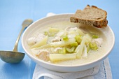 Chicken, celery and potato soup, Venezuela