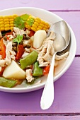 Tripe soup with beans and vegetables, Colombia