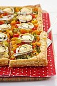 Pepper, leek and goat's cheese tart