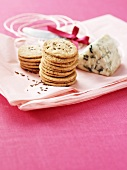 Crackers and blue cheese