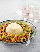 Couscous with chick-pea stew