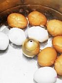 Eggs in egg boiler