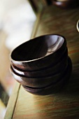 Wooden bowls, stacked