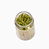 A jar of French beans