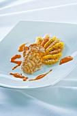Monkfish with citrus fruit