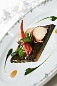 Lobster on seaweed