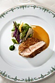 Veal fillet with asparagus