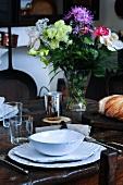 Dining room, Alphonse Daudet Museum (Ardèche, France)