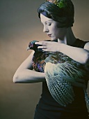 Woman with pheasant