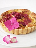 Fig and raspberry tartlet
