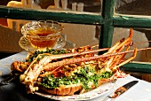 Spiny lobster with herbs