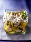 Chicken fillets in olive oil