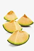Pieces of a Brazilian Galia melon