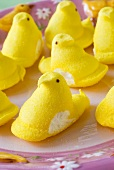 Yellow Easter chicks (foam sweets)