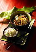 Beef stew with vegetables and rice (Vietnam)