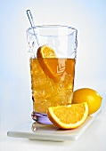 Orange soda with whisky