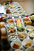 Various ingredients for Thai dishes in bowls