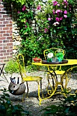 Yellow garden table and chairs