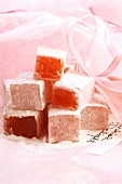 Turkish Delight on pink cloth