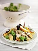 Tofu and peach salad