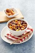 Bean and potato stew with bacon (USA)