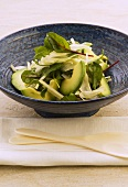 Avocado salad with nashi pear