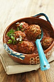 Albondigas a la mexicana (meatballs with a spicy tomato sauce)