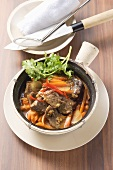 Beef sirloin with ginger carrots