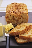 Apricot bread with butter