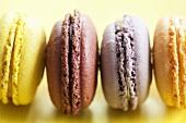 Bunte Macarons (Baisergebäck aus Frankreich)
