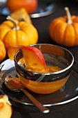 Persimmon jam with ginger and pumpkin