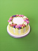 Special occasion cake with sugar flowers