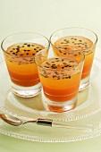 Papaya and passion fruit jelly