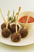 Pork and chorizo meatballs
