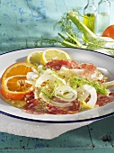 Antipasto calabro (Fennel salad with salami & citrus fruit)