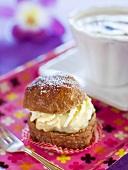 Semla (Traditional Swedish filled bun)
