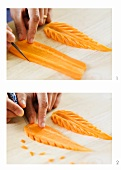 Carving a carrot