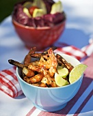 Grilled prawns with Middle Eastern marinade