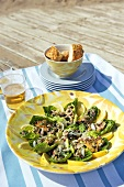 Platter of seafood salad