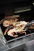 Grilling lobster