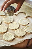 Cutting out oatcakes