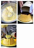 Making sponge pudding
