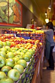 Fresh apples in a supermarket