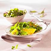 Chard and orange salad with pine nuts