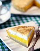 A piece of lemon meringue pie (UK)