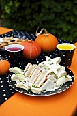 Assorted sandwiches for Halloween