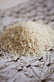 A heap of basmati rice