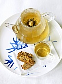Tea with tea flower